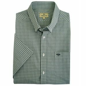 Hoggs Perth Short Sleeve Check Shirt - Green