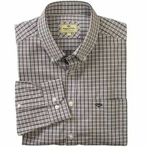 Hoggs Comrie Long Sleeved Check Shirt - Grey