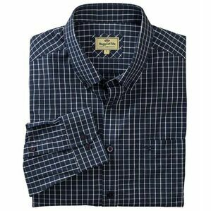 Hoggs Comrie Long Sleeved Check Shirt - Navy