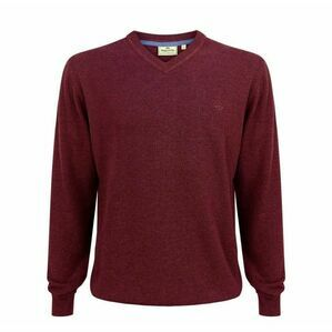Hoggs Stirling V Neck Pullover - Burgundy