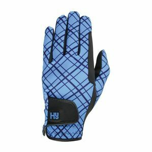 Hy5 Lightweight Printed Riding Gloves - Black & Blue