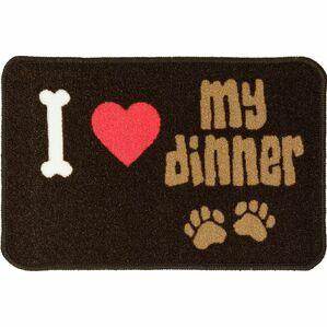 Pet Rebellion 'I Love My Dinner' Dog Mat