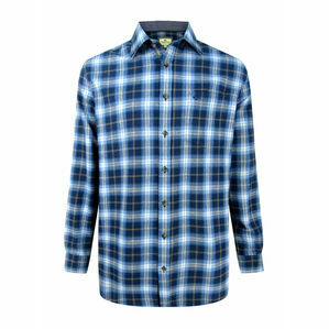 Hoggs Orkney Blue Check Flannel Shirt