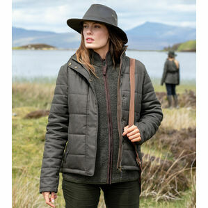 Hoggs Of Fife Elgin Ladies Quilted Jacket - Green