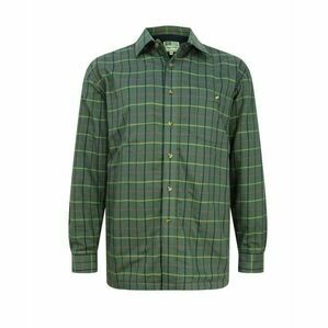 Hoggs Beech Micro-Fleece Check Shirt - Green