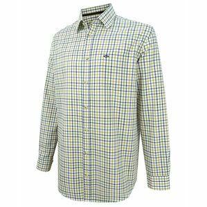 Hoggs Falkland Herringbone Twill Shirt - Blue/Brown