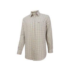 Hoggs Falkland Herringbone Twill Shirt - Green/Wine