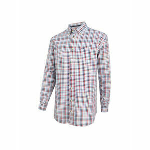 Hoggs Dundas Check Oxford Shirt - Red/Blue