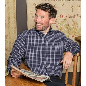 Hoggs Pure Cotton Comrie Check Shirt - Navy