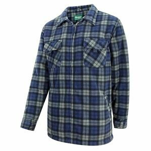 Hoggs Caithness Polar Fleece Check Workshirt - Blue