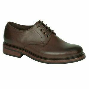 Hoggs Of Fife Troon Calf Derby Shoe - Dark Brown