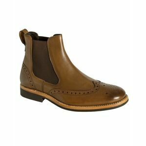 Hoggs Stanley Semi Brogue Dealer Boot - Tan Burnish