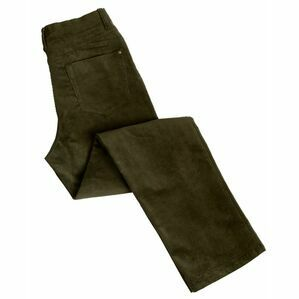 Hoggs Ladies Stretch Cord Jeans - Dark Olive