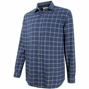 Hoggs Shetland Check Shirt - Navy/White