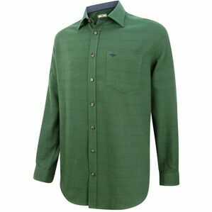 Hoggs of Fife Shetland Check Shirt - Olive/Navy