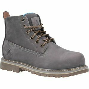 Amblers Safety AS105 Mimi Womens Lace Up Steel Toe Safety Boot in Grey