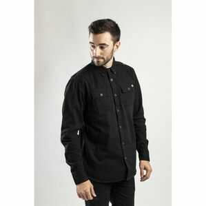 Caterpillar Button Up Long-Sleeved Shirt in Black