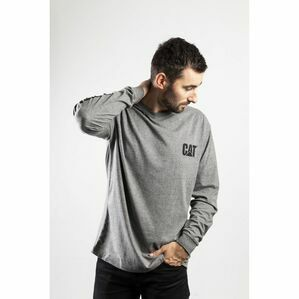 Caterpillar Trademark Banner Long Sleeve T-Shirt Dark Heather
