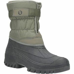 Chase Touch Fastening and Zip Up Winter Boot in Khaki