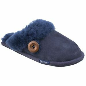 Cotswold Lechlade Sheepskin Mule Slipper in Dark Blue