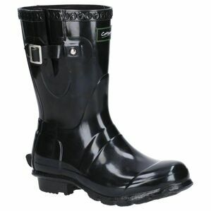 Cotswold Windsor Gloss Short Wellington Boots in Black