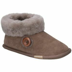 Cotswold Wotton Sheepskin Bootie Slipper in Mushroom