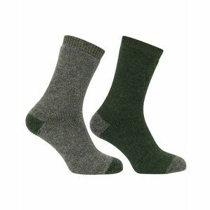 Hoggs of Fife 1904 Country Short Socks in Tweed/Loden (Twin Pack)