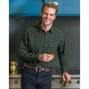 Hoggs of Fife Braemar Check Shirt in Green