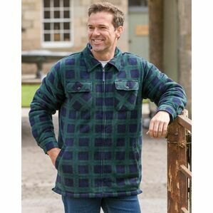 Hoggs of Fife Sutherland Fleece Shacket in Blackwatch Check