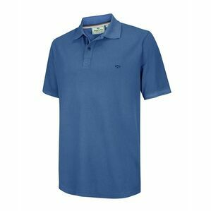 Hoggs of Fife Anstruther Washed Polo Shirt in Cobalt Blue