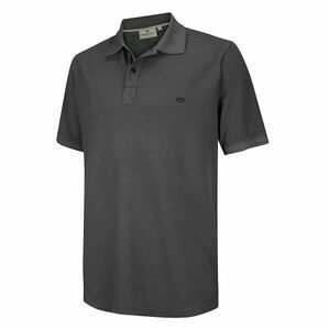 Hoggs of Fife Anstruther Washed Polo Shirt in Navy