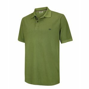 Hoggs of Fife Anstruther Washed Polo Shirt in Olive