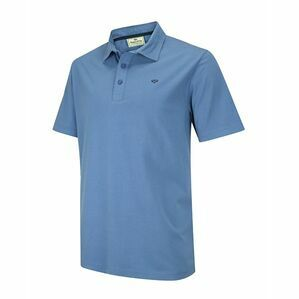 Hoggs of Fife Crail Jersey Polo Shirt in Cobalt Blue