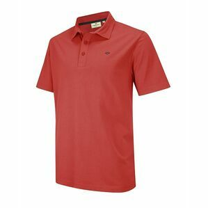 Hoggs of Fife Crail Jersey Polo Shirt in Garnet Red