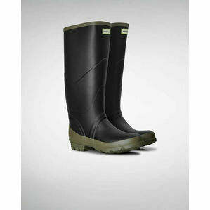 Hunter Argyll Bullseye Wellington Boots in Black