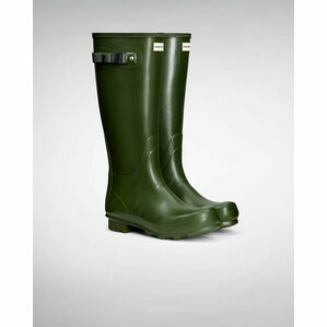 Hunter Norris Field Adjustable Wellington Boots in Vintage Green