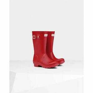 Hunter Original Kids Wellington Boots in Red