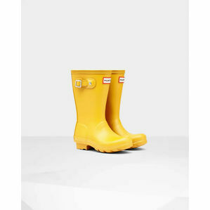 Hunter Original Kids Wellington Boots in Yellow