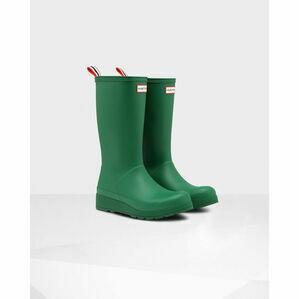 Hunter Original Play Tall Wellington Boots in Hyper Green