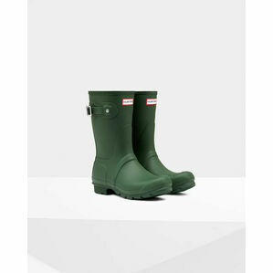 Hunter Original Short Wellington Boot in Hunter Green