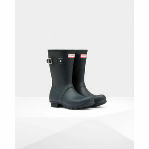 Hunter Original Short Wellington Boot in Navy