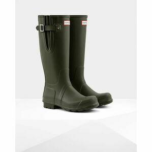 Hunter Original Adjustable Wellington Boots in Dark Olive