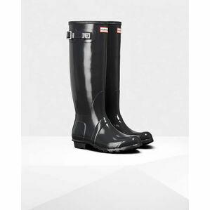 Hunter Original Tall Gloss Wellington Boots in Slate Grey