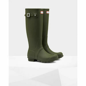 Hunter Original Tall Wellington Boots in Dark Olive