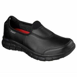 Skechers Sure Track Work Shoe in Black