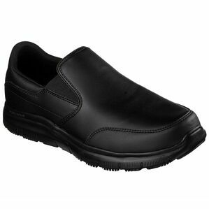 Skechers Flex Advantage SR Bronwood Slip-On Work Shoe in Black