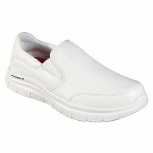 Skechers Flex Advantage SR Bronwood Slip-On Work Shoe in White