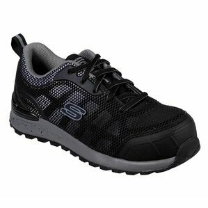 Skechers Bulklin-Lyndale Comp Toe Work Show in Black/Grey