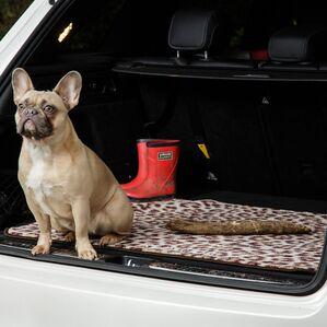 Pet Rebellion Car Boot Dog Mate - Leopard Print
