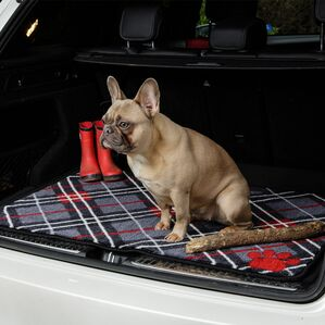 Pet Rebellion Car Boot Dog Mate - Tartan Print